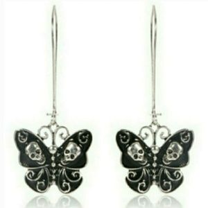 🎀Skull Butterfly Earings